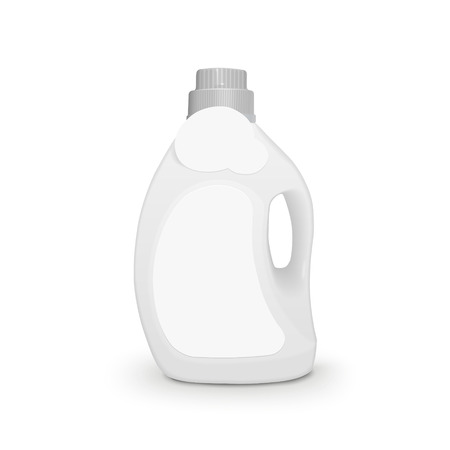 dish washing: plastic detergent container isolated on white background Illustration