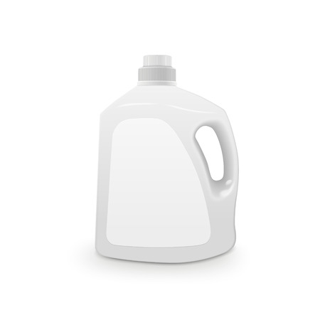 cleanser: plastic detergent container isolated on white background Illustration