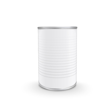 food can: blank food can isolated on white background