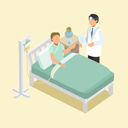 enfermera caricatura: ayuda m�dica en el dise�o plano isom�trico 3d