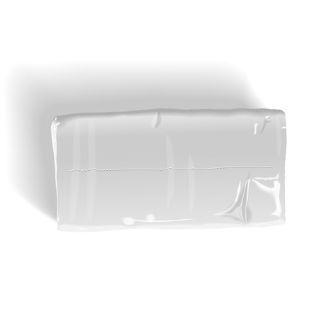 soft tissues: pack of tissue paper isolated on white background