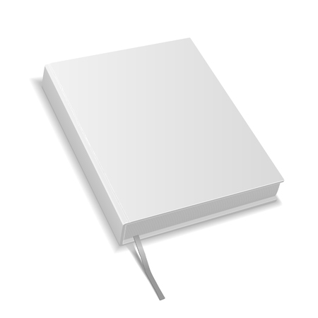 hardcover: hardcover blank book isolated on white background