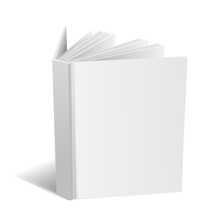 book isolated: open blank book isolated on white background