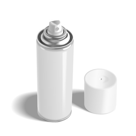 paint can: blank aerosol can isolated on white background Illustration