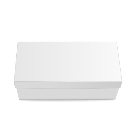 top view of blank shoes box isolated on white background  イラスト・ベクター素材