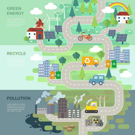 environmental protection concept in 3d isometric flat design Illustration