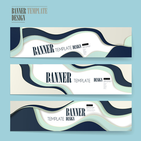 modern banners set template design with wave elements