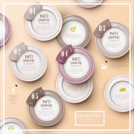 simplicity: simplicity infographic template design with circular elements Illustration