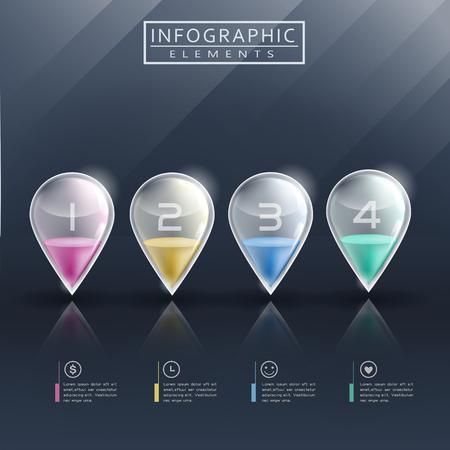 translucent: modern infographic template design with translucent marks Illustration