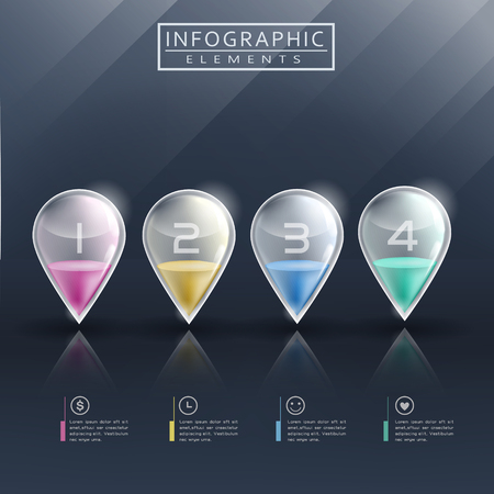 modern infographic template design with translucent marks Illustration