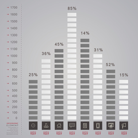 the simplicity: simplicity infographic template design with bar chart