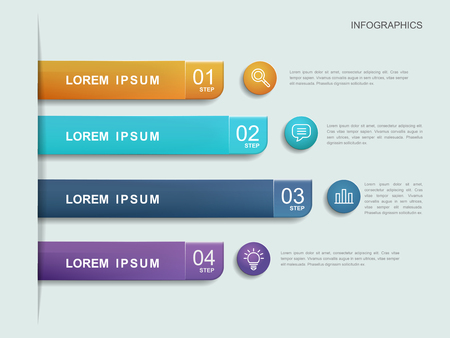 simplicity: simplicity infographic template design with banner options