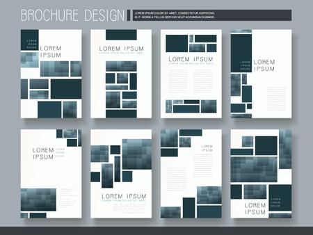 modern brochure template design met mozaïek elementen