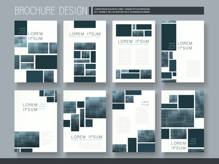 modern brochure template design with mosaic elements