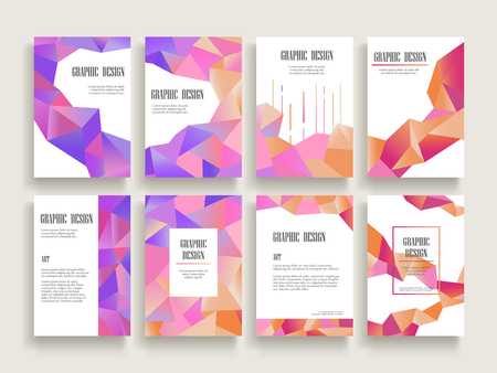 Beautiful Trifold Brochure Template Design With Crystal Elements - Beautiful brochure templates