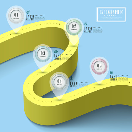 ring road: simplicity infographic template design with extend road