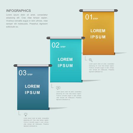 sencillez: simplicidad de diseño de plantilla infografía con el elemento del cartel de rodillos