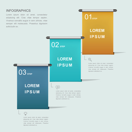 the simplicity: simplicity infographic template design with roller poster  element