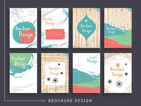 Atractiva plantilla de diseño de folleto con fondo abstracto