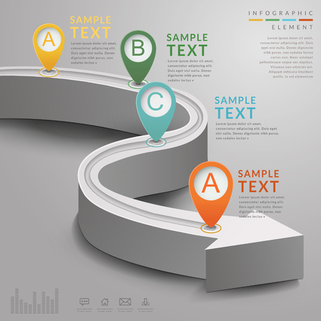 road design: simplicity infographic template design with extend road