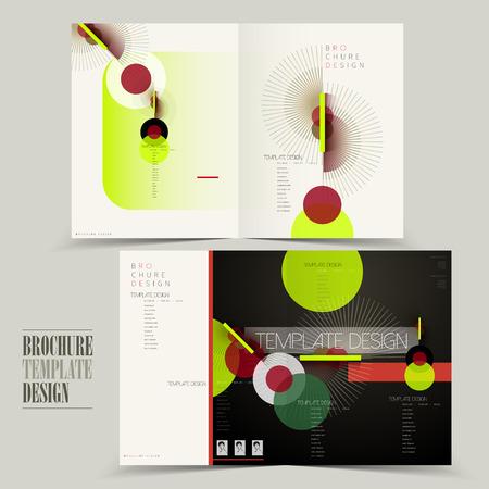 free half fold brochure template