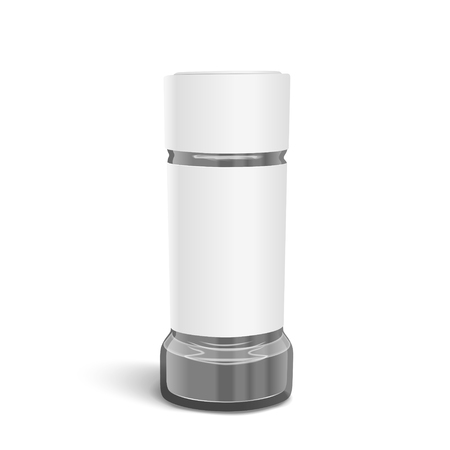 shakers: blank glass salt and pepper shakers on white background Illustration