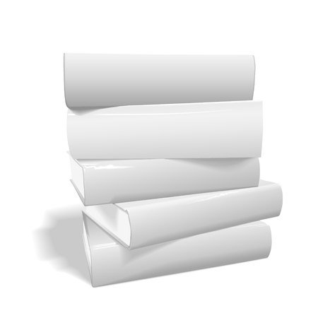 stack of blank books on white background  イラスト・ベクター素材