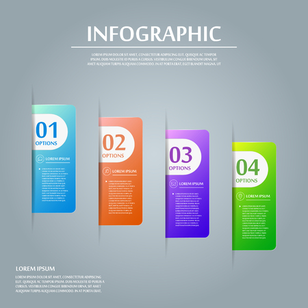 information design: contemporary infographic design with colorful labels elements