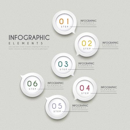 sencillez: simplicidad de diseño infográfico con elementos de la burbuja del discurso