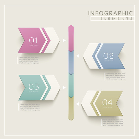 the simplicity: simplicity infographic design with arrow label elements