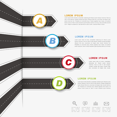 road design: creative infographic design with arrow road elements