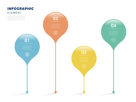 the simplicity: simplicity infographic design with colorful marks elements