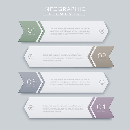 option key: simplicity infographic design with arrow label elements