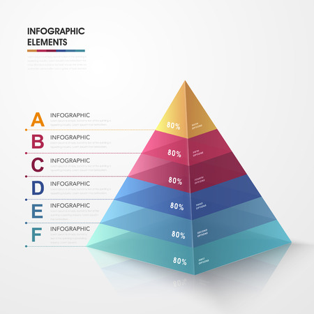 triangle: attractive infographic design with 3d colorful triangle elements Illustration