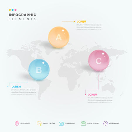 translucent: attractive infographic design with translucent ball elements Illustration