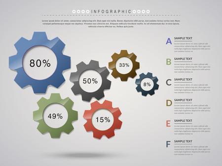 cog wheel: creative infographic design with cog wheel elements