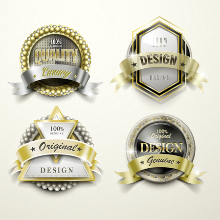 sumptuous: collection of sumptuous golden labels design set