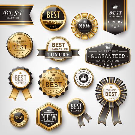 collection de brillants prix d'or la conception de l'emblème ensemble