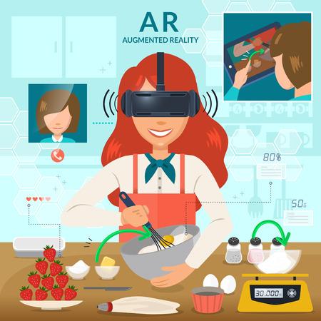拡張現実感は、フィールドを料理に使用します。