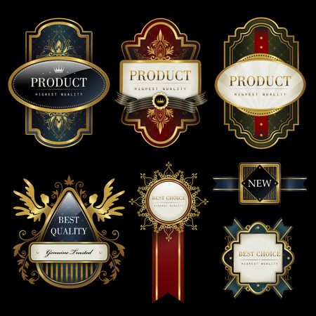 splendid: splendid label collection set with black and gold