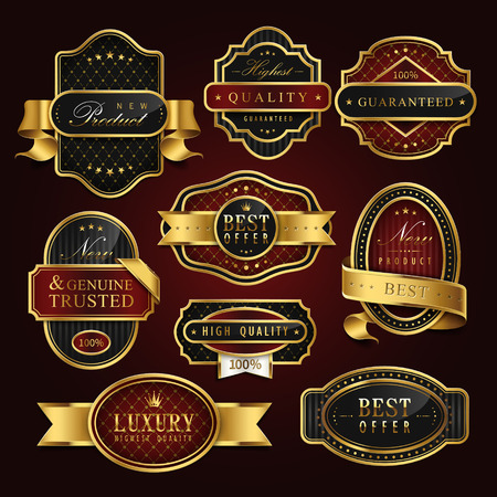 usage: high class golden label collection set for retail usage Illustration
