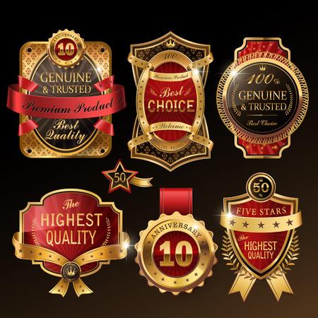 splendid golden premium labels collection set for retail usage