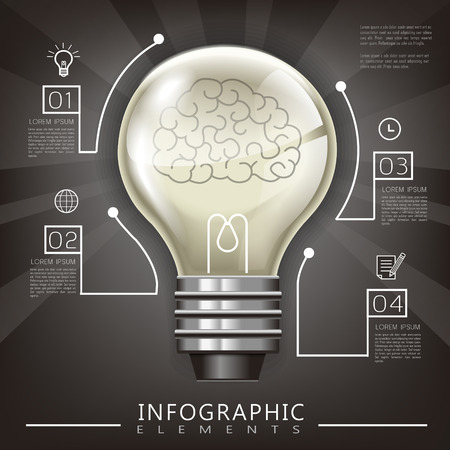 lighting bulb: education infographic template design with lighting bulb element