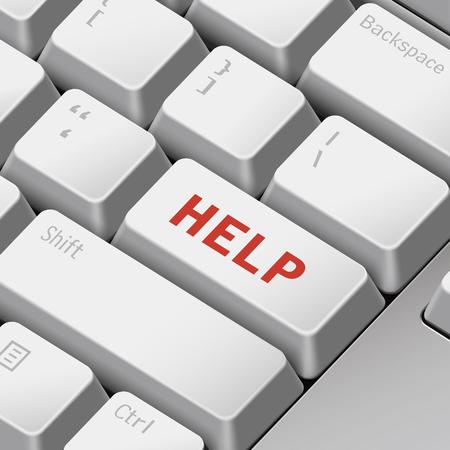 enter key: message on 3d illustration keyboard enter key for help concepts
