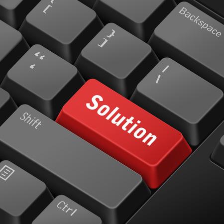tecla enter: mensaje en el teclado 3d ilustraci�n tecla enter para conceptos de soluci�n