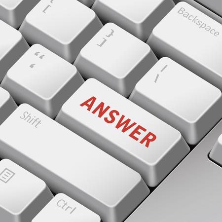 tecla enter: mensaje en el teclado 3d ilustración tecla enter para los conceptos de respuesta