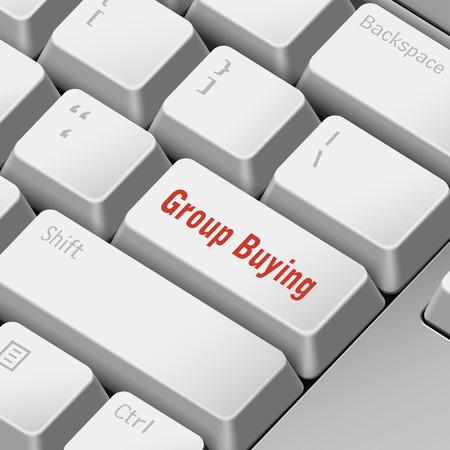 tecla enter: mensaje en el teclado 3d ilustraci�n tecla enter para los conceptos de compras en grupo