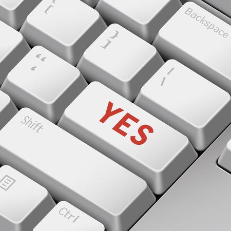 tecla enter: mensaje en el teclado 3d ilustración tecla enter para acordar conceptos