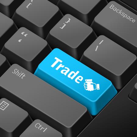 tecla enter: mensaje en el teclado 3d ilustración tecla enter para los conceptos de comercio