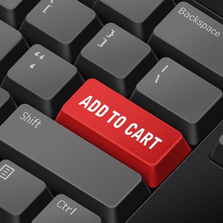 enter key: message on 3d illustration keyboard enter key for online shopping concepts